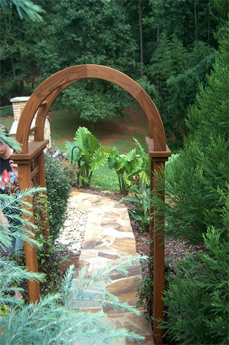 Arched Entry Arbor