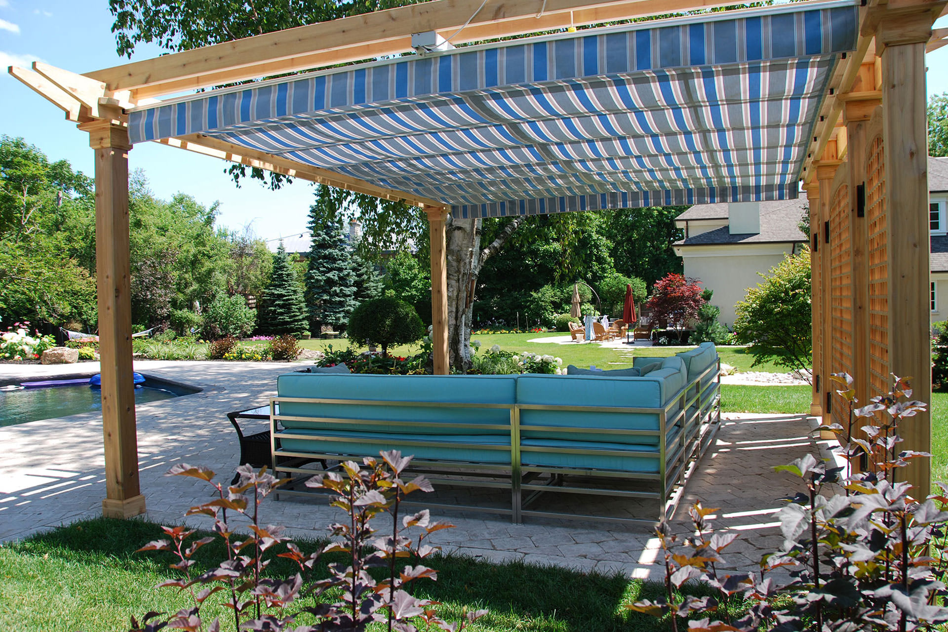 Pool Side Canopy Pergola
