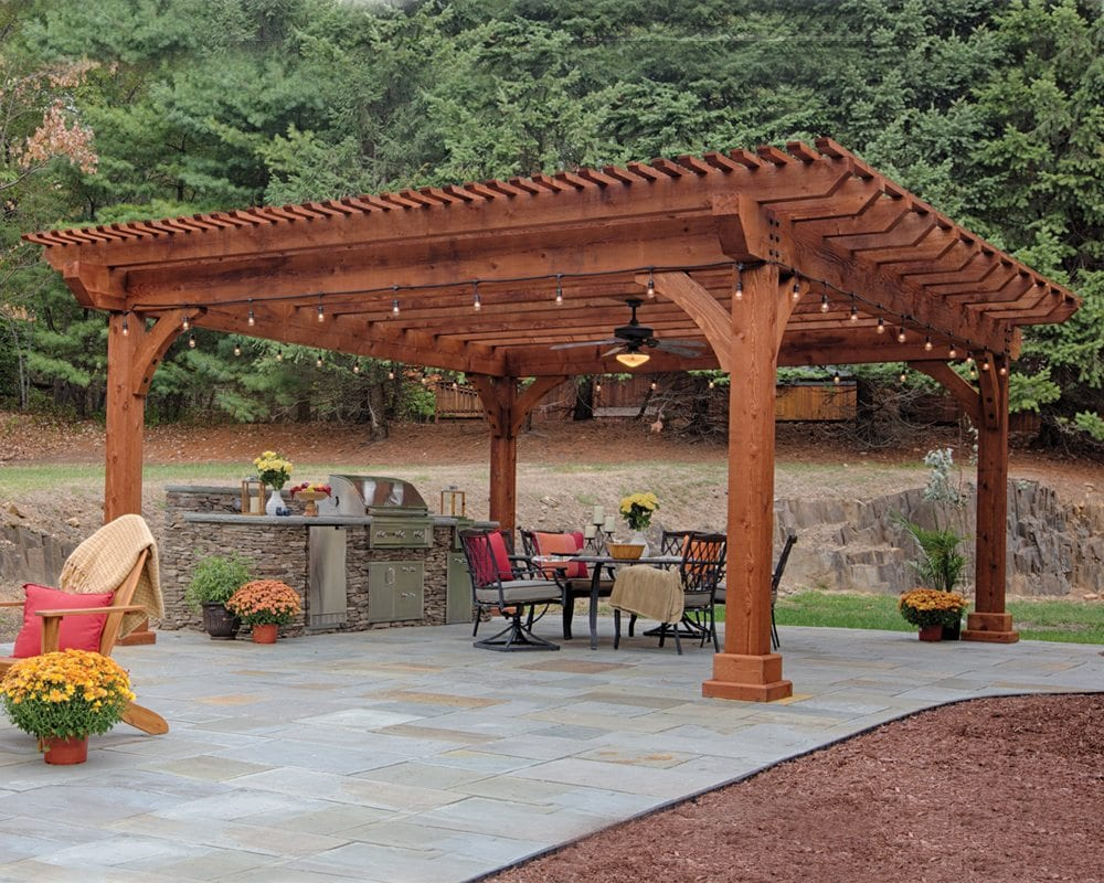 Redwood Beam Pergola