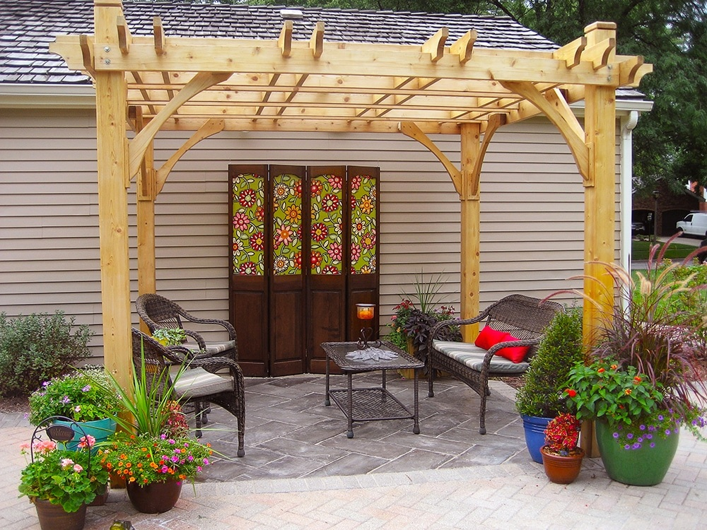 Simple Patio Pergola